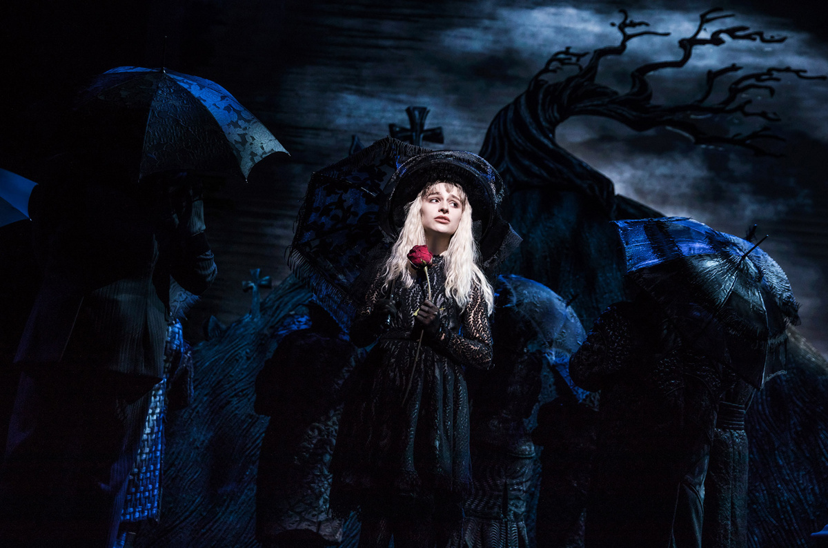 Sophia Anne Caruso as Lydia in Beetlejuice.