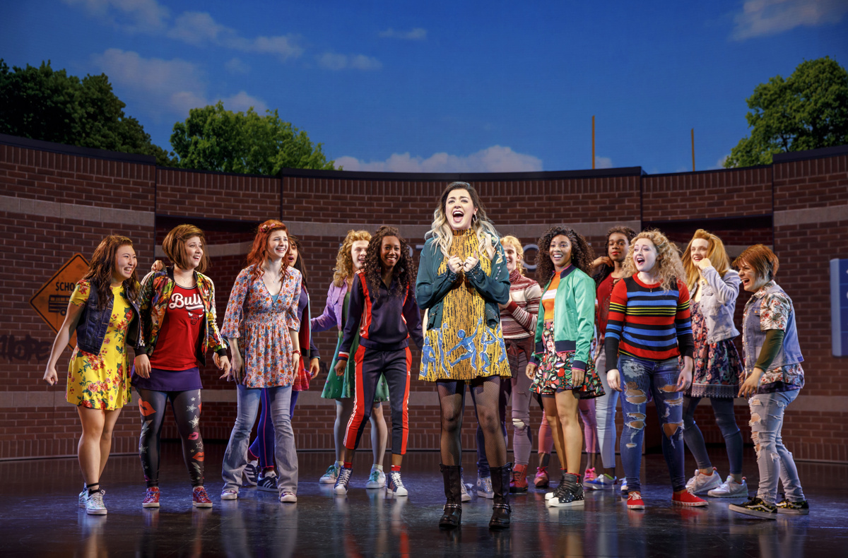 Barrett Wilbert Weed as Janis and the cast of Mean Girls.