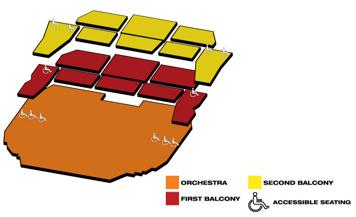 Seatmap for Bass Concert Hall