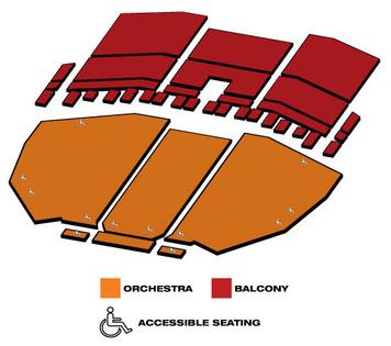 Seatmap for Saenger Theatre
