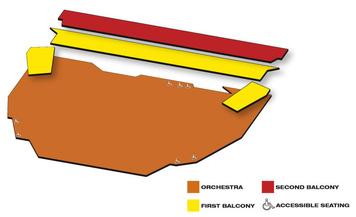 Seatmap for Centennial Concert Hall