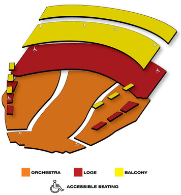 Seatmap for Procter & Gamble Hall - Aronoff Center for the Arts