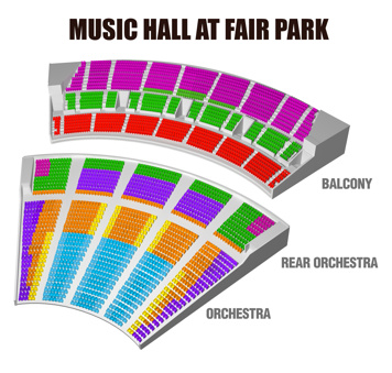 Seatmap for Music Hall at Fair Park