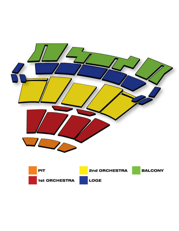 Seatmap for Beautiful: The Carole King Musical
