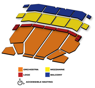 Seatmap for The Addams Family