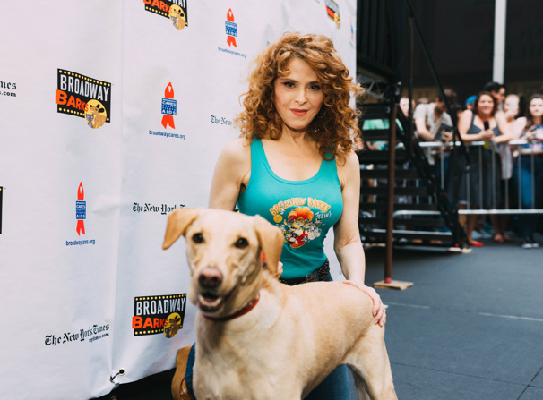 Broadway Barks queen Bernadette Peters snaps a pic with a sweet pup. See you next year!