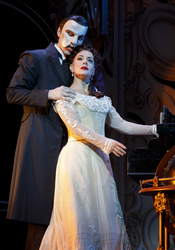 Bronson Norris Murphy as The Phantom & Meghan Picerno as Christine Daaé in the national tour of Love Never Dies.