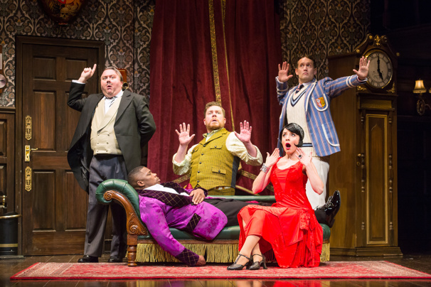The touring company of The Play That Goes Wrong