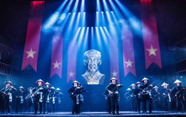 The North American touring company of Miss Saigon, photo by Matthew Murphy