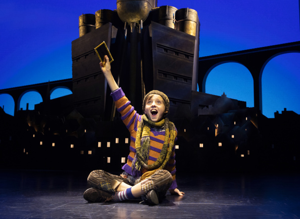 Rueby Wood as Charlie Bucket in the national tour of Roald Dahl's Charlie and the Chocolate Factory