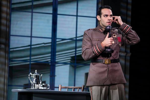 Jason Michael Evans (Gleb) in the national tour of Anastasia, photo by Matthew Murphy