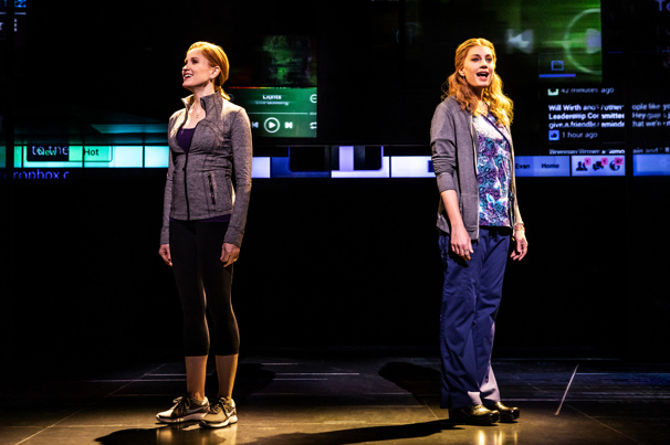 Christiane Noll (Cynthia Murphy) & Jessica Phillips (Heidi Hansen) in the national tour of Dear Evan Hansen, photo by Matthew Murphy