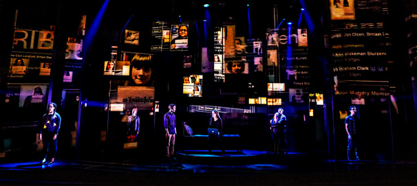 The company of the national tour of Dear Evan Hansen, photo by Matthew Murphy