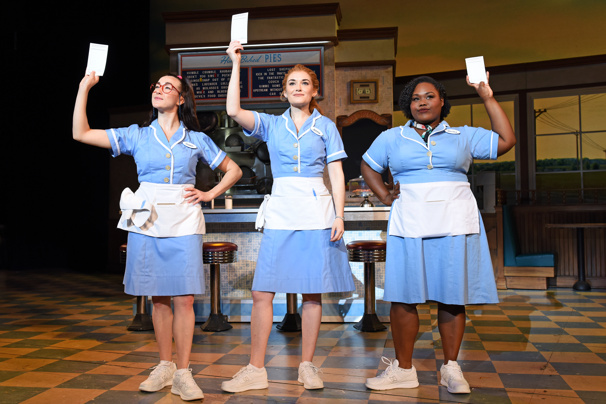 Jessie Shelton, Christine Dwyer and Tatiana Lofton in Waitress, photo by Tim Trumble