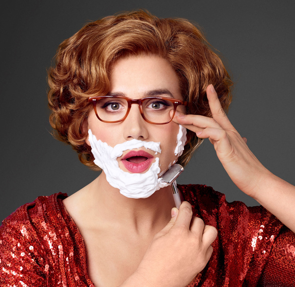 Close Shave! Check Out Santino Fontana as Dorothy Michaels in Tootsie