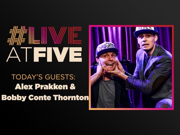 Broadway.com #LiveatFive with Alex Prakken and Bobby Conte Thornton of Gutenberg