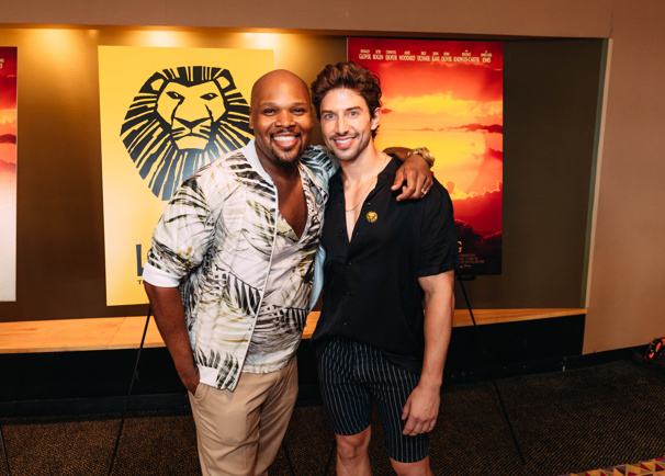 Aladdin's Genie, and current Broadway.com vlogger, Michael James Scott hangs with Broadway vet Nick Adams.
