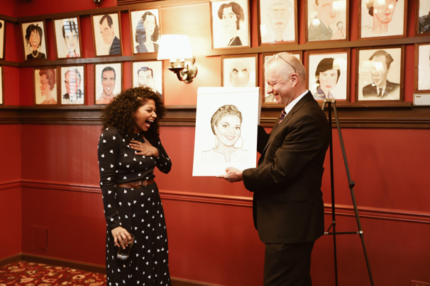 See Oklahoma! Star Rebecca Naomi Jones Receive Her Sardi's Caricature