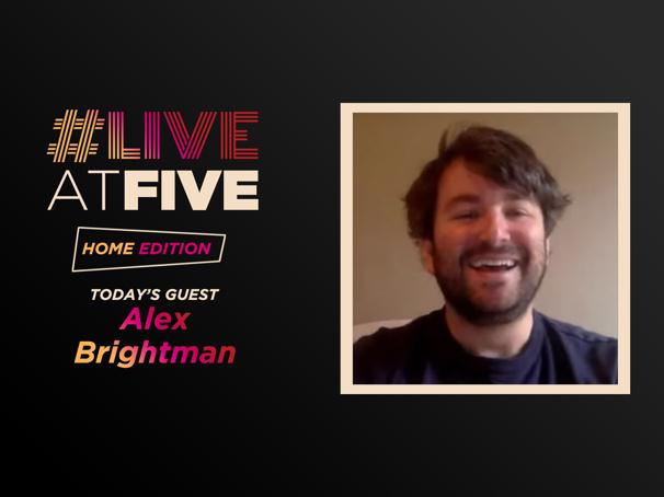 Broadway.com #LiveatFive: Home Edition with Alex Brightman of Beetlejuice