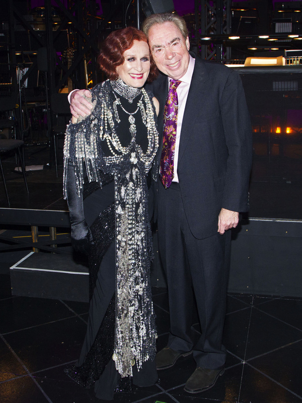 Ready for Their Close-Up! Glenn Close & Andrew Lloyd Webber Strike a Pose at Sunset Boulevard's Opening Night