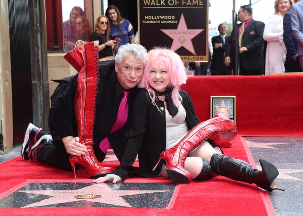 Kinky Boots Creators Harvey Fierstein & Cyndi Lauper Get Stars on the Hollywood Walk of Fame