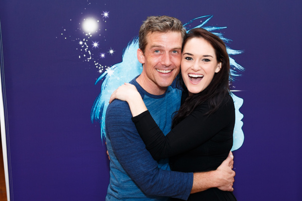 Awwww! We can't wait to catch these two on the national tour of Finding Neverland! Kevin Kern and Christine Dwyer hug it out.