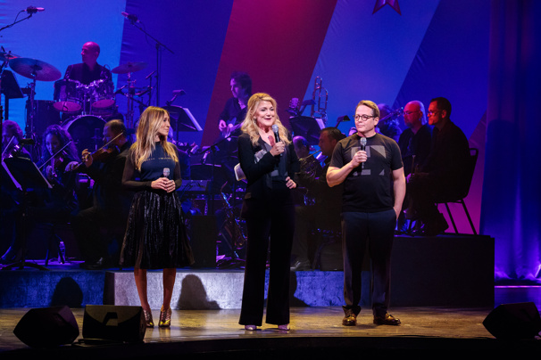 "A golden trio! Sarah Jessica Parker, Victoria Clark and Matthew Broderick  perform ""Been A Long Day"" from How to Succeed in Business Without Really Trying.(Photo: Adam Schultz)"
