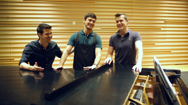 Glamorous! An American in Paris' Garen Scribner, Nick Spangler & Etai Benson Sing 'S Wonderful' in Rehearsal
