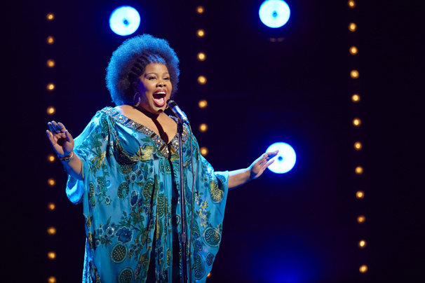 Amber Riley as Effie White in Dreamgirls.