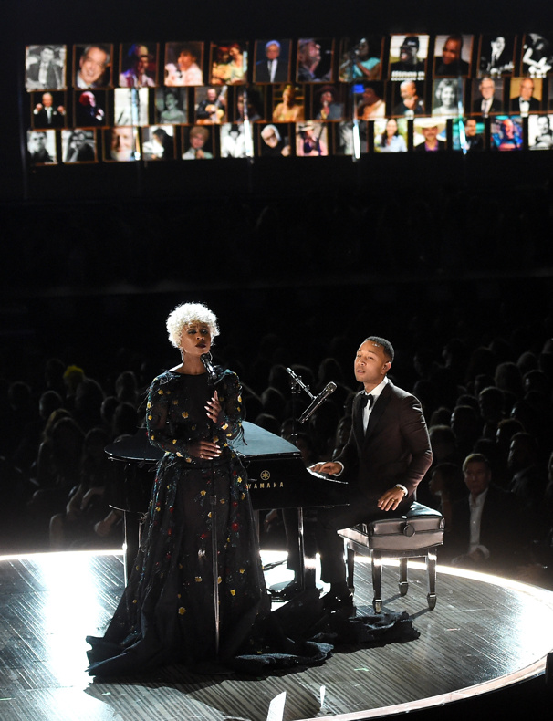 Hear Tony Winner Cynthia Erivo & John Legend Perform 'God Only Knows' & See The Color Purple Stars React to Grammy Win