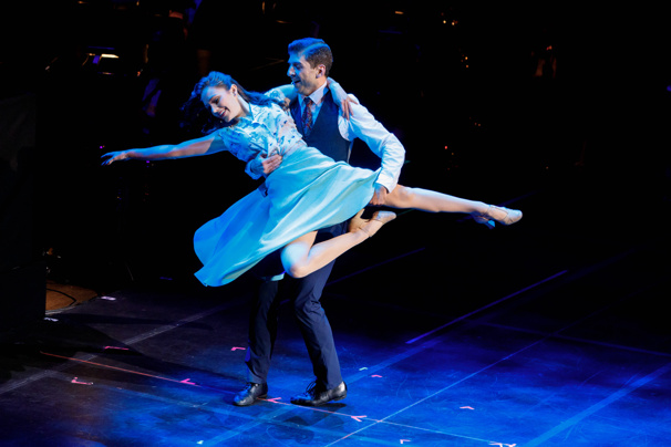 We're Crazy for this shot of Laura Osnes and Tony Yazbeck! The two starred in Crazy for You at Lincoln Center's David Geffen Hall on February 19.(Photo: Emilio Madrid-Kuser)