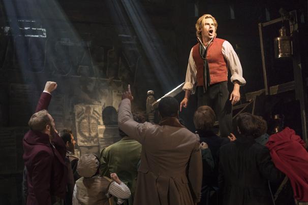 Matt Shingledecker as Enjolras in Les Miserables