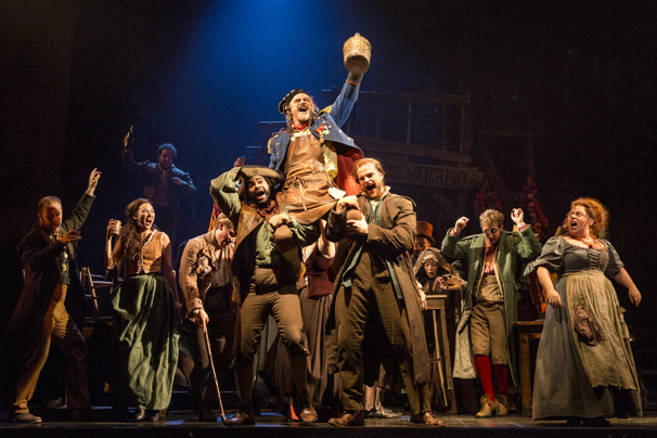 J Anthony Crane as Thenardier and company in Les Miserables