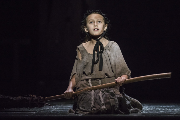 Zoe Glick as Little Cosette in Les Miserables