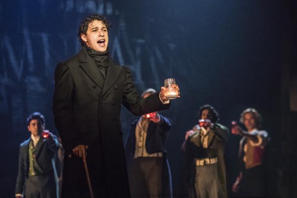 Joshua Grosso as Marius in Les Miserables