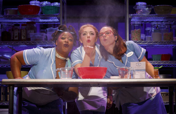 Charity Angel Dawson, Desi Oakley & Lenne Klingaman in the national tour of Waitress, photo by Joan Marcus
