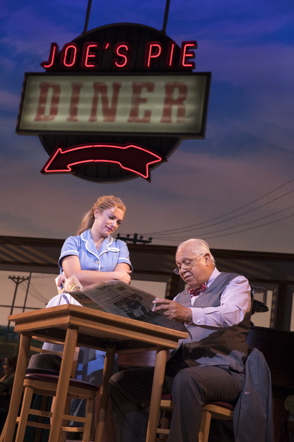 Desi Oakley & Larry Marshall in the national tour of Waitress, photo by Joan Marcus