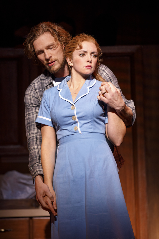 Nick Bailey & Desi Oakley in the national tour of Waitress, photo by Joan Marcus