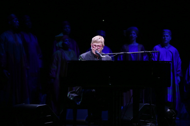 Watch Elton John Sing 'Circle of Life' with the Cast of Broadway's The Lion King During 20th Anniversary Show