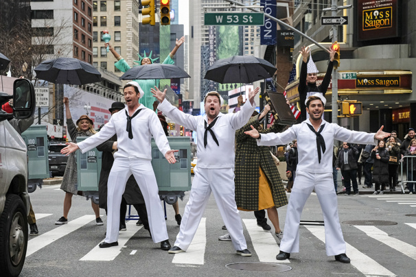 Hugh Jackman, James Corden & Zac Efron Perform an Epic Medley of On the Town, Guys and Dolls & Fame