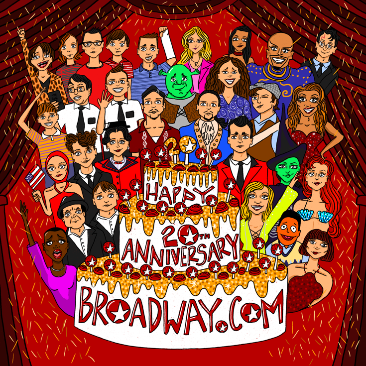 Cheers To 20 Years! Broadway Characters Toast Broadway.com