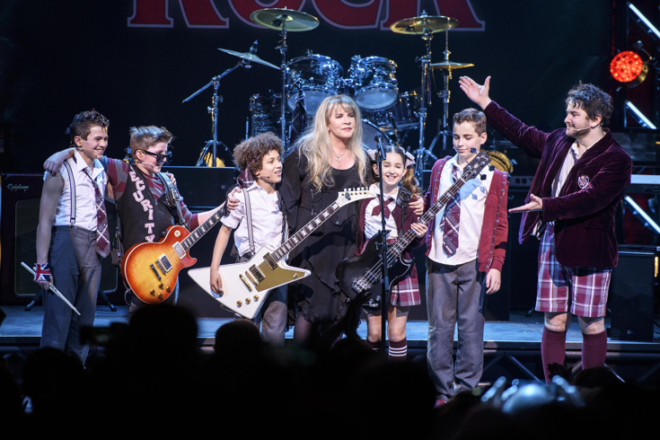 e1a05951 Stevie Nicks and the cast of 'School of Rock' (Photo by Matthew  Eisman/Getty Images for 'School of Rock - The Musical')