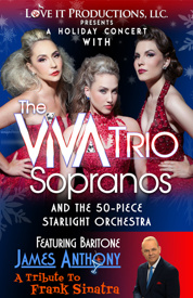 Poster for Holiday Concert with the Voices of ViVA Trio