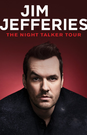 Poster for Jim Jefferies - The Night Talker Tour