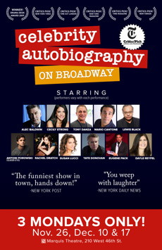 Celebrity Autobiography on Broadway, Marquis Theatre, NYC Show Poster