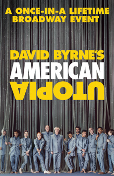 David Byrne's American Utopia, Hudson Theatre, NYC Show Poster