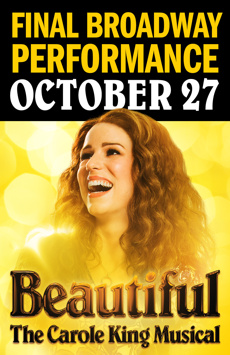 Beautiful: The Carole King Musical, Stephen Sondheim Theatre, NYC Show Poster