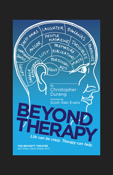 Beyond Therapy, The Beckett Theatre at Theatre Row, NYC Show Poster