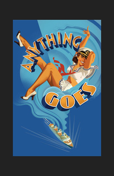 Anything Goes, Stephen Sondheim Theatre, NYC Show Poster