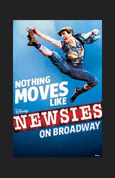Newsies, Nederlander Theatre, NYC Show Poster